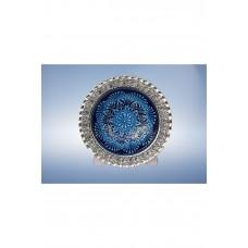 Gümüş Kaplama El Dekoru Seramik Tabak