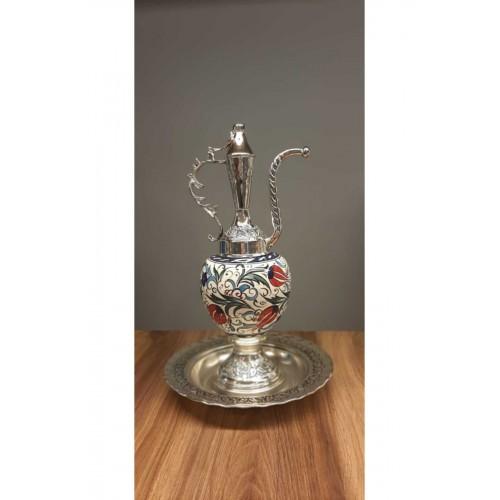 Gümüş Kaplama El Dekoru İbrik